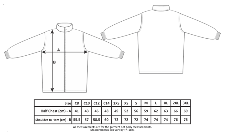 Uniform Jacket Size