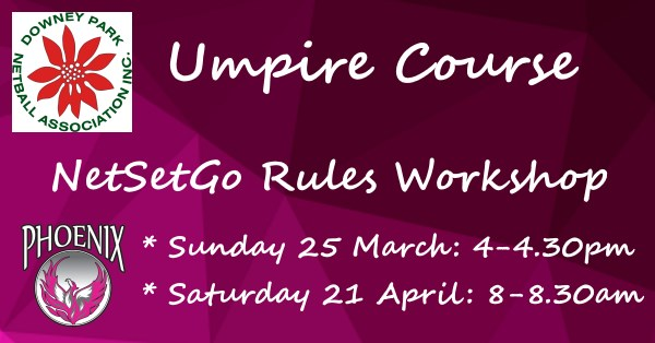Events Umpire Net Set Go